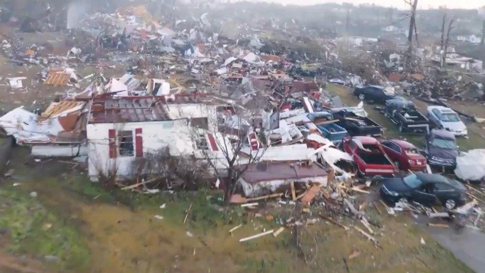 ABD'de Kasırga Felaketinin Boyutu Drone İle Görüntülendi